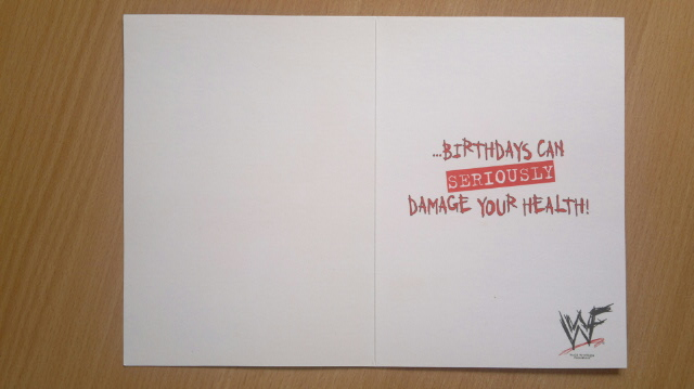 wwf danilo birthday card  dquechuajeffhardycollectioncards, Birthday card